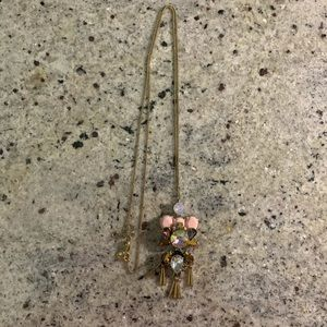 J. Crew Factory Gold Statement Necklaces with Gems